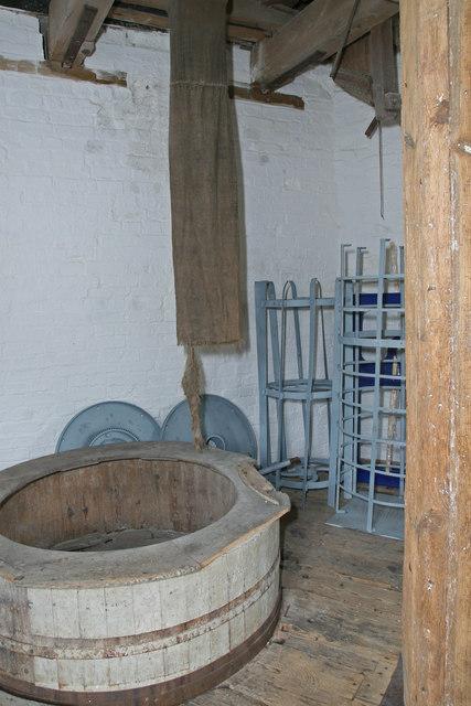 Impington Windmill - stone floor
