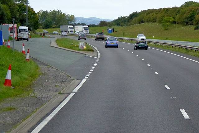 Layby on the Westbound A55 at Llandulas