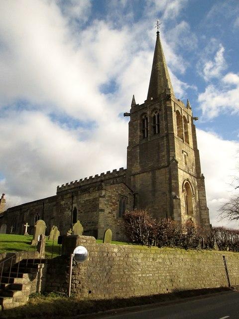 All  Saints  Parish  Church  and  graveyard  Kirk  Deighton