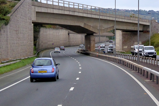 Railway Bridge over the A55 at Old Colwyn
