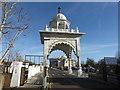 TQ6573 : Entrance to the Guru Nanak Darbar Gurdwara in Gravesend by Marathon