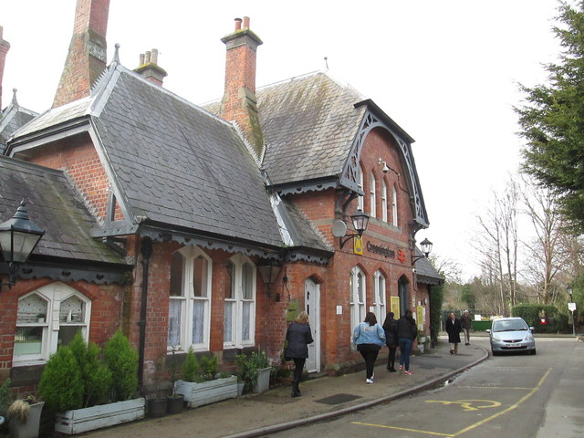 The  front  of  Cressington  Station