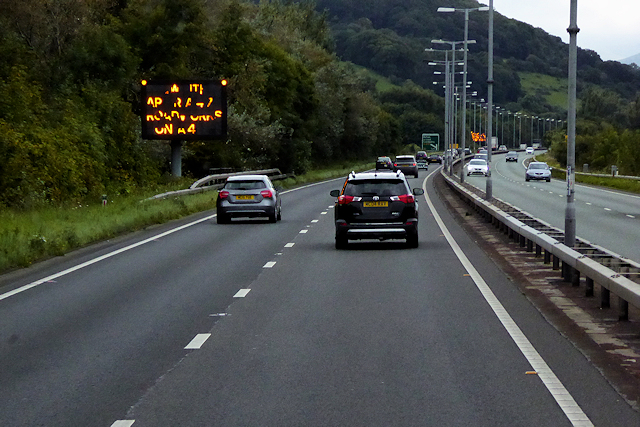 VMS on North Wales Expressway near to Mochdre