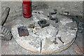 TL4462 : Impington Windmill - millstone by Chris Allen