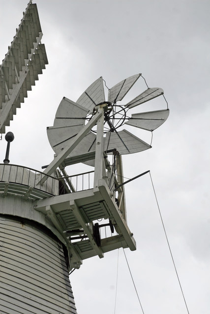 Impington windmill - fan tail