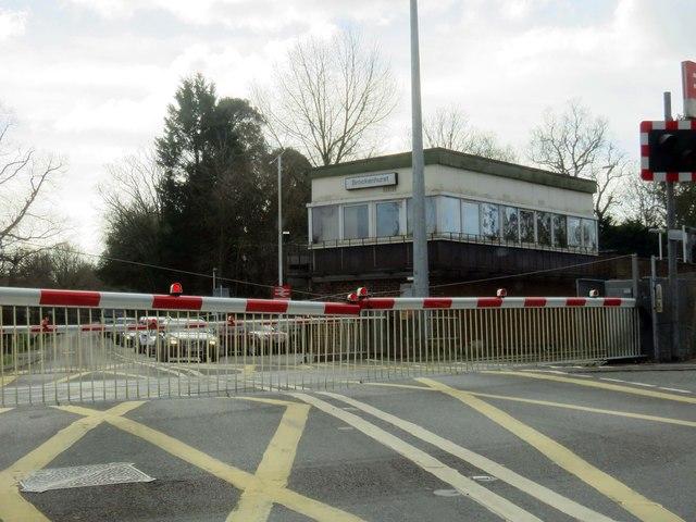 Level crossing on Lymington Road