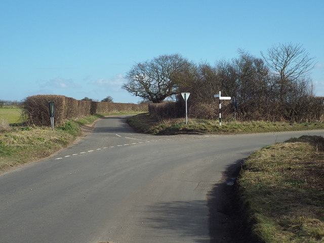 Road junction near Cley-next-the-Sea