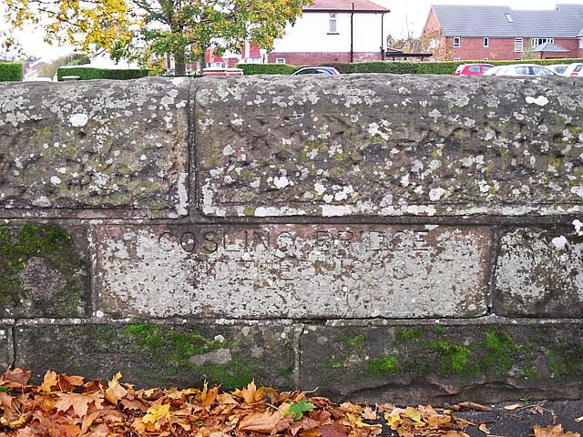 Inscribed stone, Gosling Bridge
