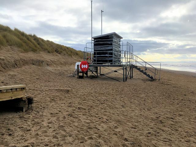 b56d98d8438 Lifeguard Hut at Formby Point © David Dixon    Geograph Britain and ...