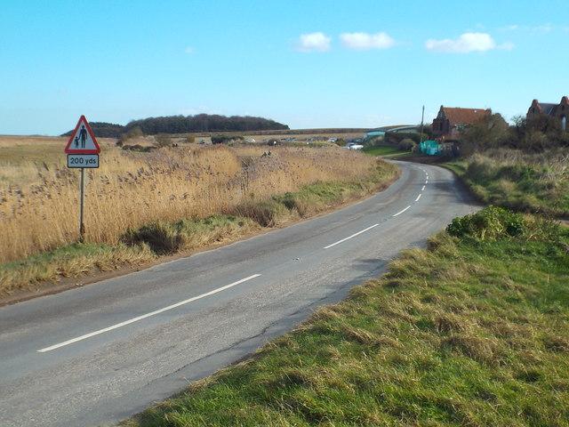 A149 Coast Road at Cley-next-the-Sea