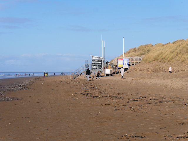 Lifeguard Hut on Formby Beach
