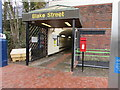 SK1000 : Queen Elizabeth II postbox at an entrance to Blake Street railway station, Sutton Coldfield by Jaggery