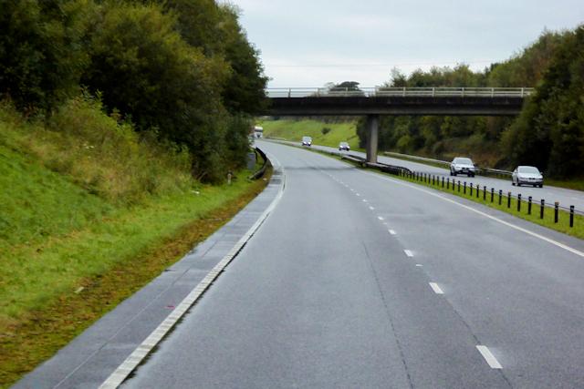 Bridge over the North Wales Expressway, west of Llanfairpwllgwyngyll