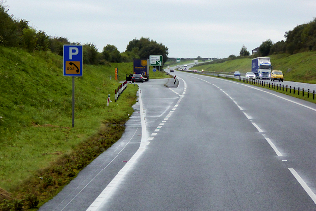 Layby on the North Wales Expressway, west of Llanfairpwllgwyngyll