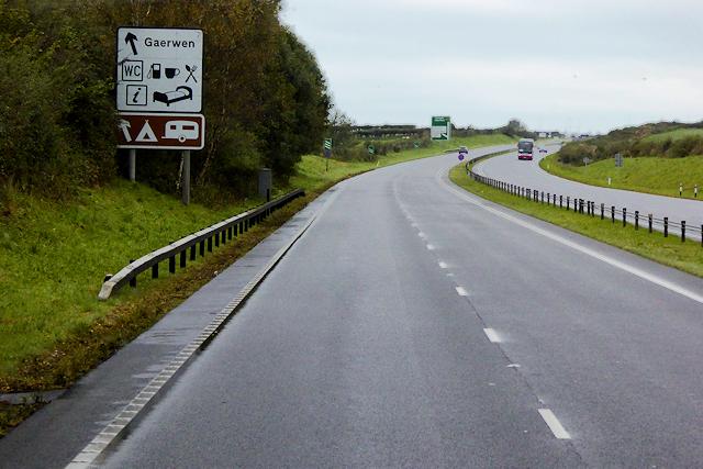 Westbound A55 near to Gaerwen