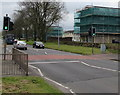 ST2995 : Pelican crossing, St David's Road, Southville, Cwmbran by Jaggery