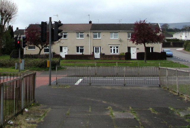 Row of three houses, Southville, Cwmbran