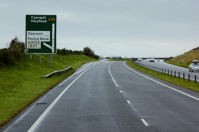 North Wales Expressway at Junction 7 (Gaerwen)