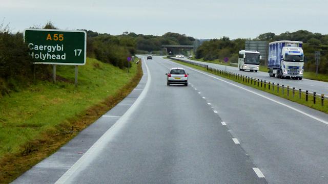 North Wales Expressway towards Holyhead