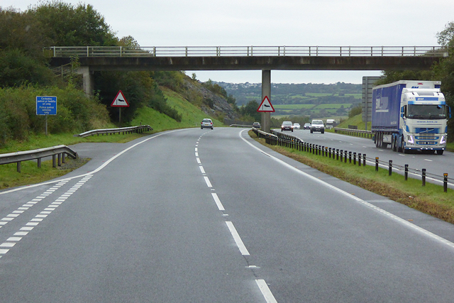 Bridge over the North Wales Expressway near to Pentre Berw