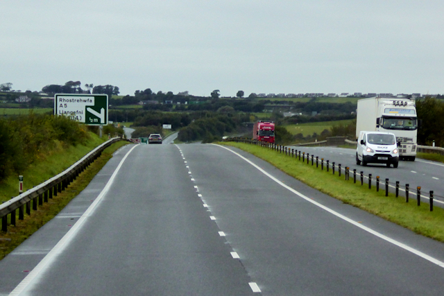 North Wales Expressway Westbound approaching Junction 6