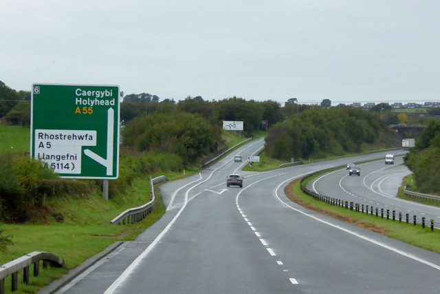 North Wales Expressway, Westbound Exit at Junction 6