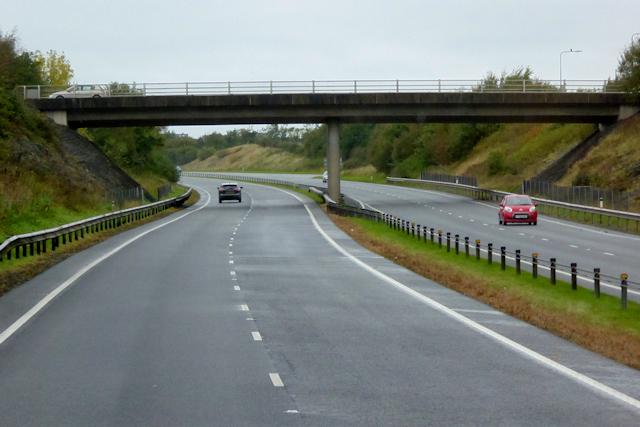 Westbound A55, Bridge at Junction 6