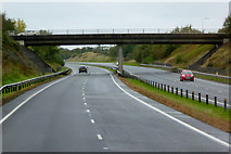 SH4473 : Westbound A55, Bridge at Junction 6 by David Dixon