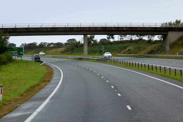 Waen-hir Bridge over the North Wales Expressway