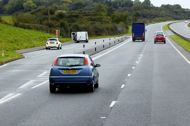 Layby on the North Wales Expressway near to Cerrigceinwen