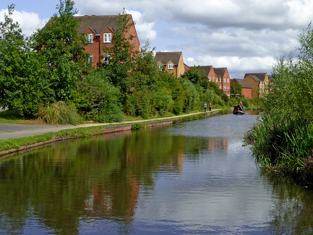 Canalside apartments north of Kidderminster, Worcestershire