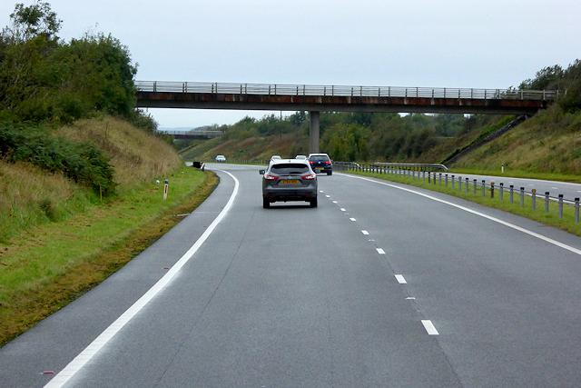 Bridge over the North Wales Expressway near to Gwalchmai