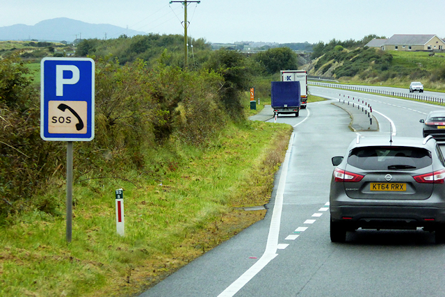 Layby on the North Wales Expressway near to Gwalchmai