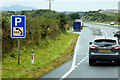 SH3775 : Layby on the North Wales Expressway near to Gwalchmai by David Dixon