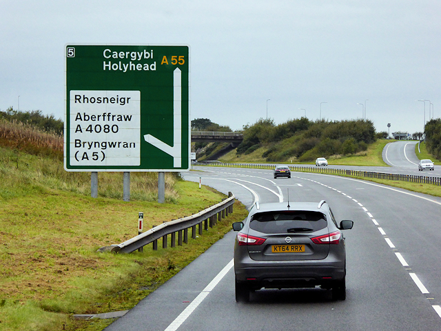 North Wales Expressway at Junction 5