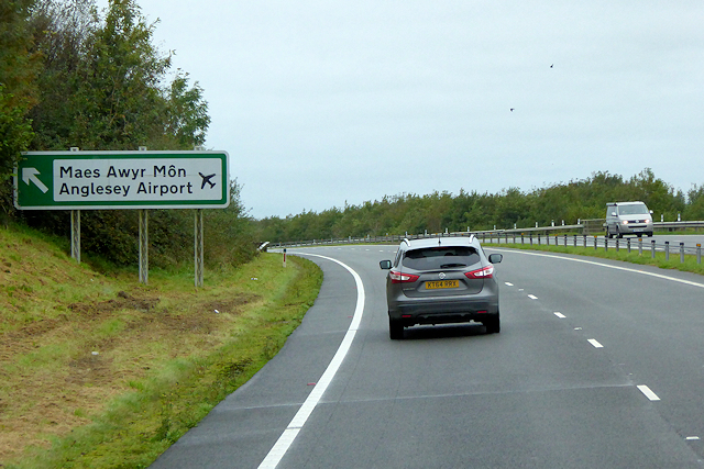 North Wales Expressway near Anglesey Airport