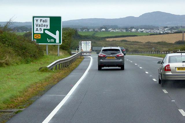 North Wales Expressway near to Caergeiliog