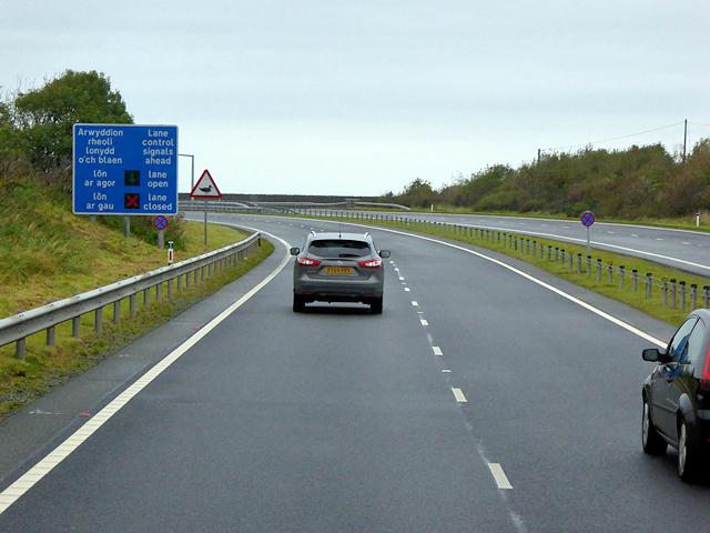North Wales Expressway nearing Holy Island