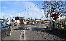 NT1067 : Kirknewton Level Crossing by Anne Burgess
