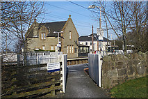 NT1067 : Entrance to Westbound Platform by Anne Burgess