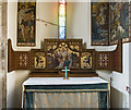 SK8907 : Reredos, Lady Chapel, St Andrew's church, Hambleton by Julian P Guffogg