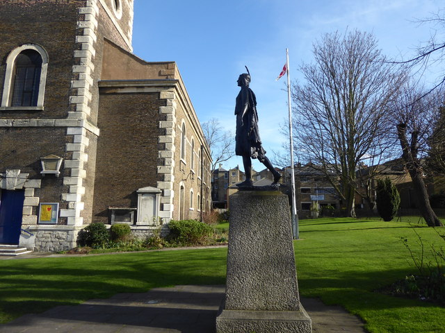 The statue of Pocahontas at Gravesend