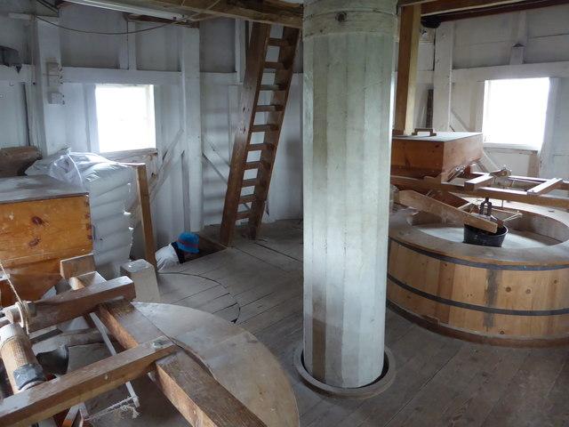 Wicken Windmill - stone floor