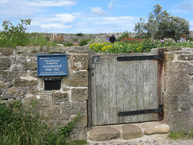 Garden entrance at Lindisfarne