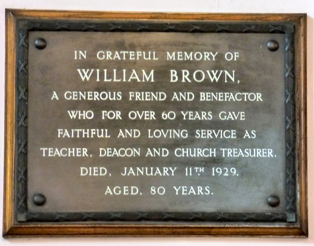 A tribute to  William Brown