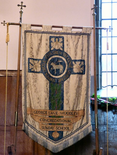 George Lane Woodley Congregational Sunday School banner