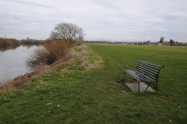 Seat overlooking the River Severn