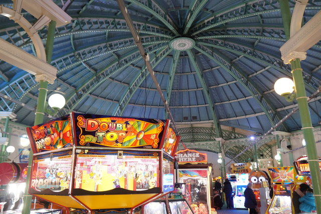 Inside the arcade on Palace Pier, Brighton