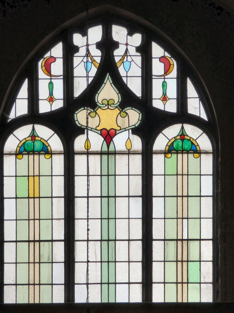 Stained glass in George Lane United Reformed Church.