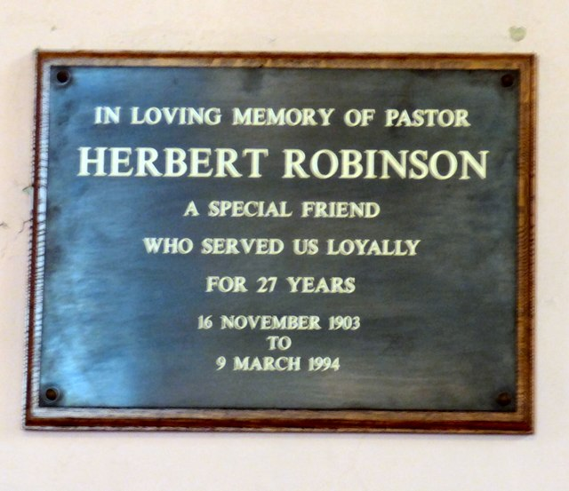 A tribute to Herbert Robinson